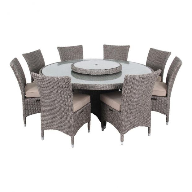 Ove Decors Habra Ii 9 Piece Aluminum, Round Patio Table Set