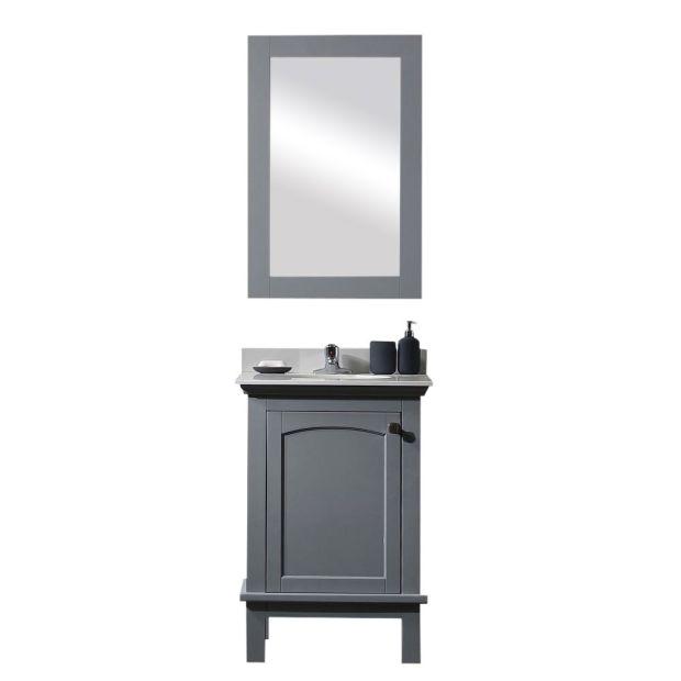 Ove Decors Single Basin Bathroom Vanity, Pebble Grey Bathroom Cabinets