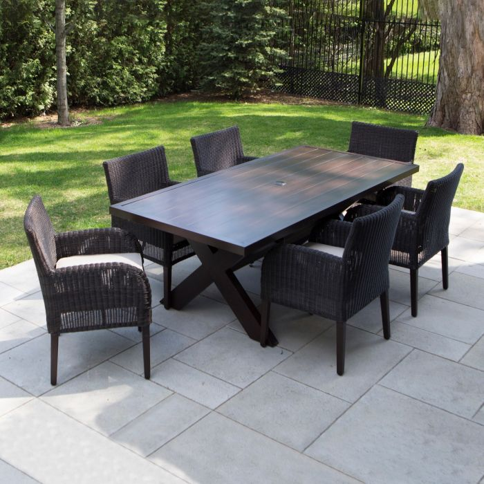 Ove Decors Majorca 7 Piece Outdoor Patio Dining Set With Cushions
