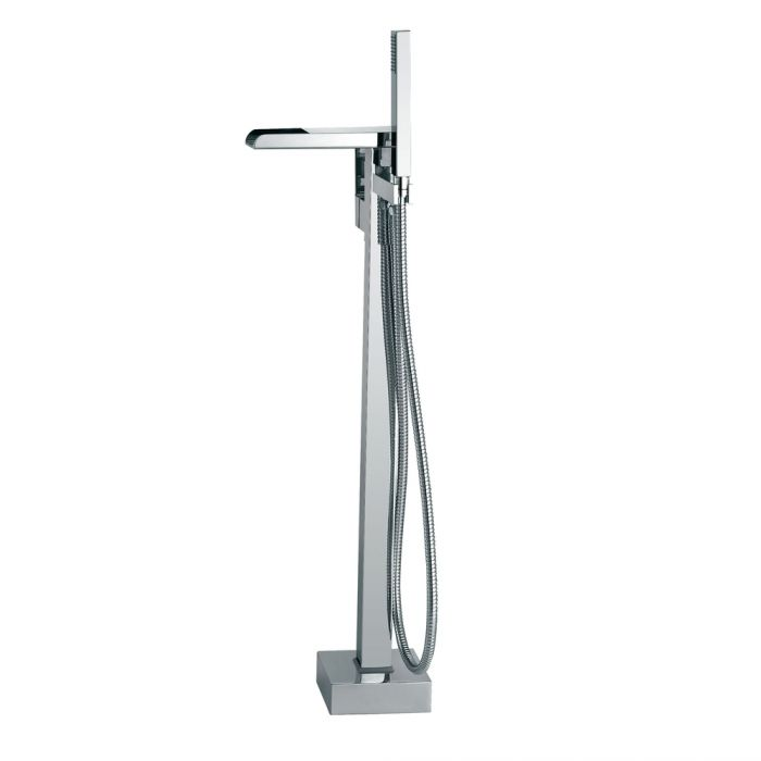 Ove Decors Infinity Chrome Freestanding Standard Faucet And Showerhand