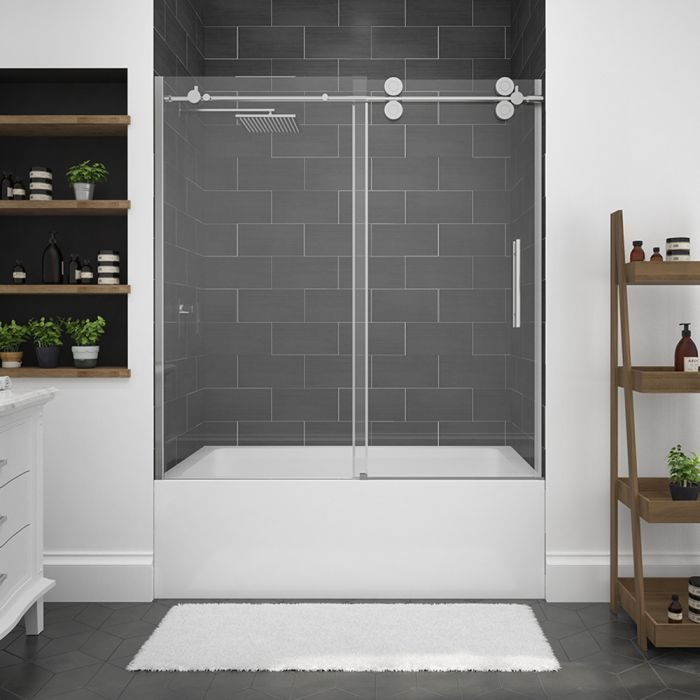 free home shipping dreamline frameless aqua with inch uno hinged product tub garden door