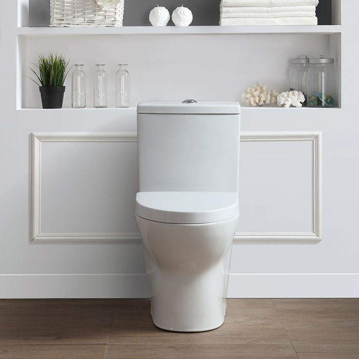 Ove Decors Beverly 2 Piece Toilet. Elongated Bowl. Dual Flush 1.06/1.59 GPF.